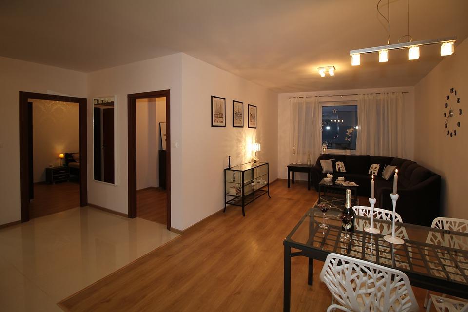 wnętrze gotowego już mieszkania