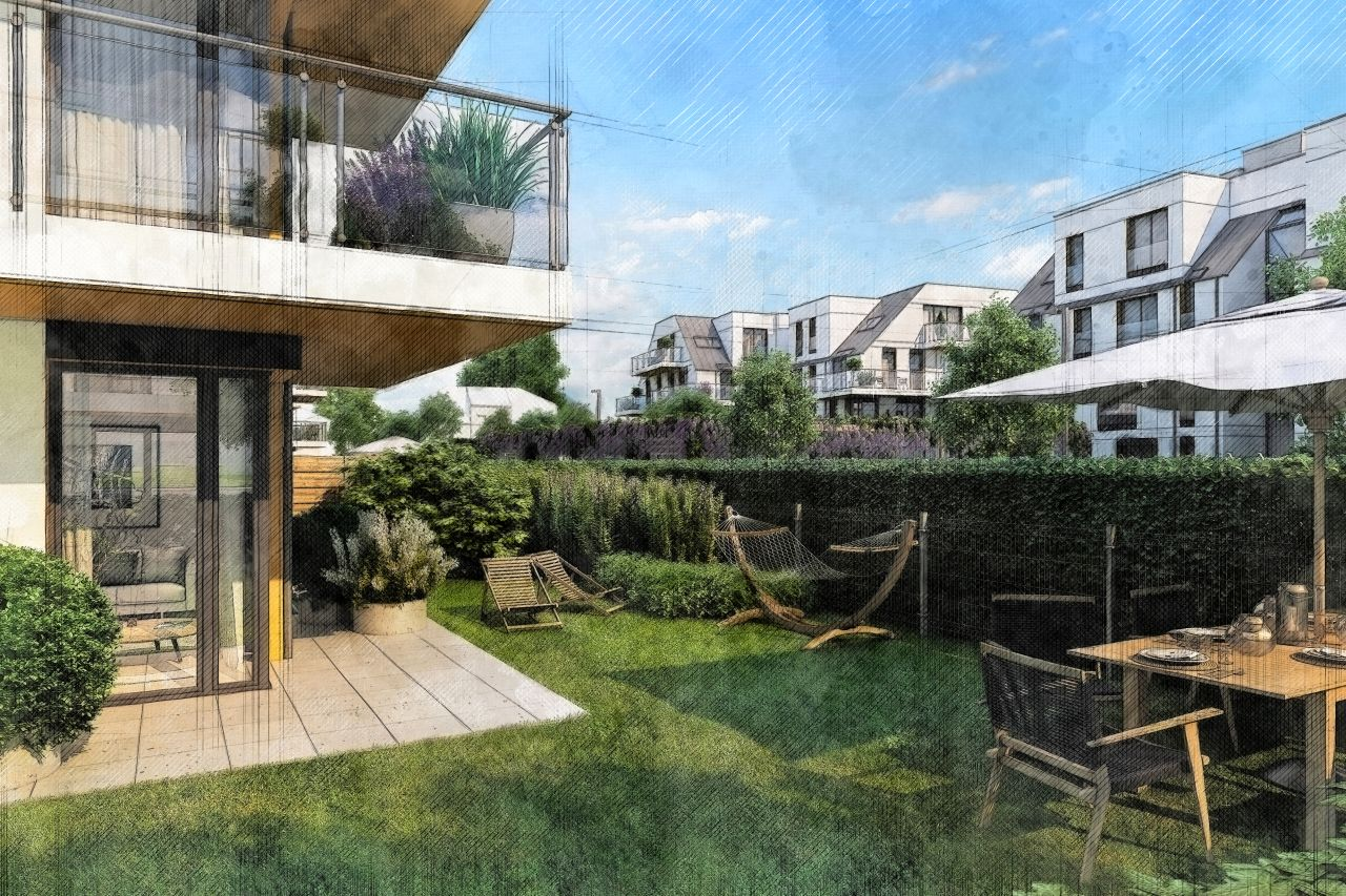 mieszkanie na parterze z ogródkiem